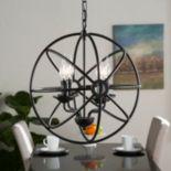 Rollie 4-Light Fixed Globe Pendant Lamp