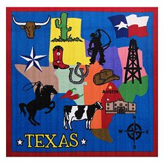 Fun Rugs Fun Time ''Texas'' Rug - 4'3'' x 4'3''