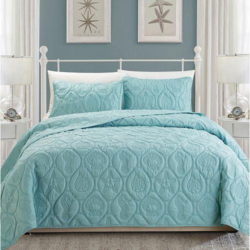 Coral 3-piece Quilt Set