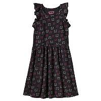 Girls 4-10 Jumping Beans® Pattern Flutter Sleeves Dress