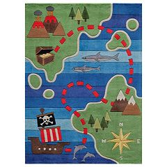 Momeni Lil Mo Whimsy Treasure Map Rug
