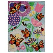 Momeni Lil Mo Whimsy Spring Butterfly Rug