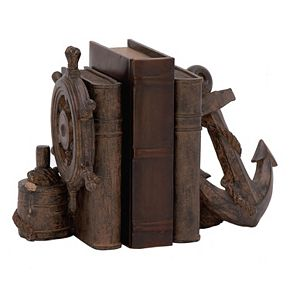 Distressed Nautical Bookends 2-piece Set