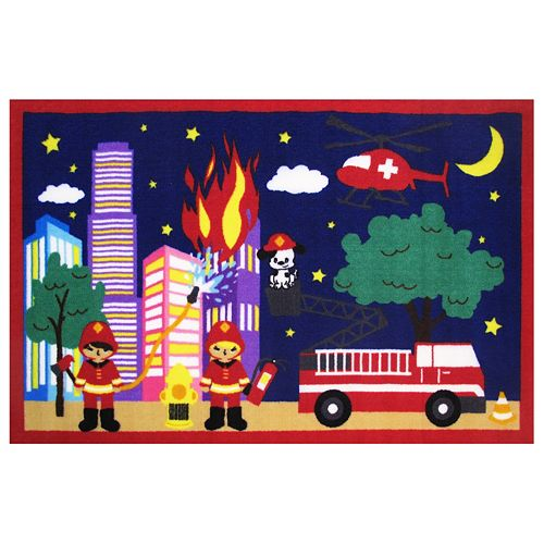 Fun Rugs Fun Time Fire, Fire Rug - 3'3'' x 4'10''