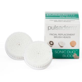 Pulsaderm Sonic Duo Buddy 2-pk. Facial Replacement Brush Heads - Sensitive Skin