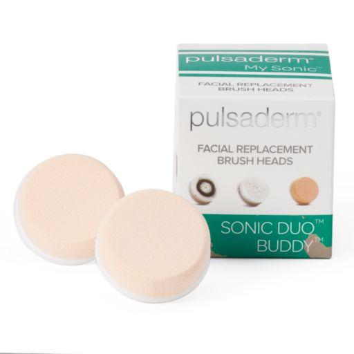Pulsaderm Sonic Duo Buddy 2-pk. Facial Replacement Brush Heads - Applicator Sponge