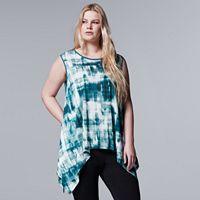Plus Size Simply Vera Vera Wang Print Handkerchief Tank