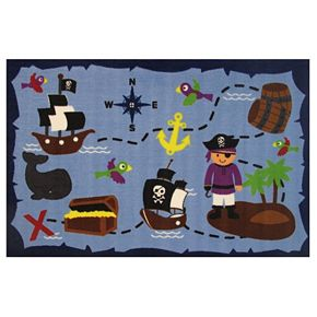 Fun Rugs Fun Time Ahoy Matey Rug - 3'3'' x 4'10''
