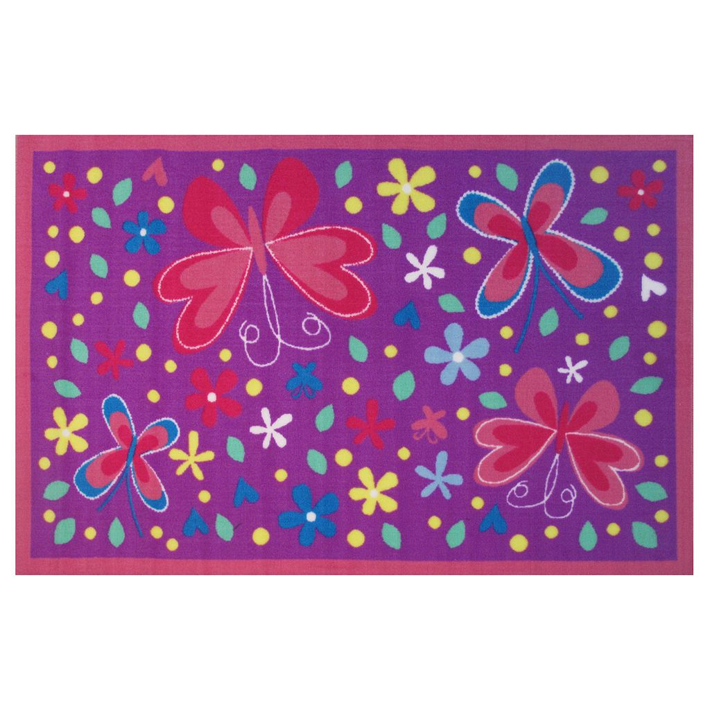 Fun Rugs Fun Time Butterfly Valley Rug - 3'3'' x 4'10''