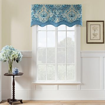 Waverly Moonlit Shadows Wave Window Valance