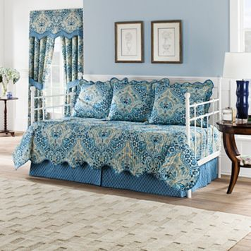 Waverly 5-piece Moonlit Shadows Daybed Quilt Set