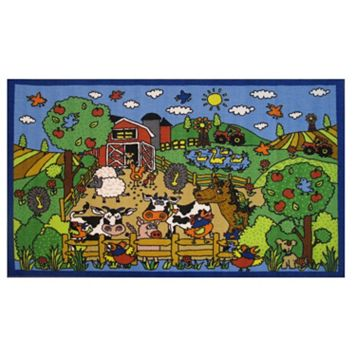Fun Rugs Fun Time Happy Farm Rug - 3'3'' x 4'10''