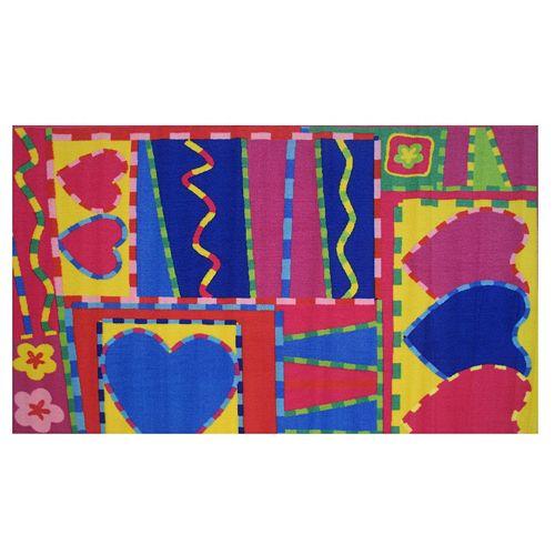 Fun Rugs Fun Time Hearts & Crafts Rug - 3'3'' x 4'10''