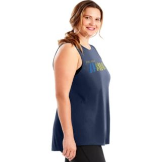 Plus Size Just My Size Graphic Muscle Tank