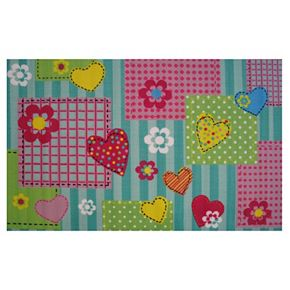 Fun Rugs Fun Time Hearts & Flowers Rug - 3'3'' x 4'10''