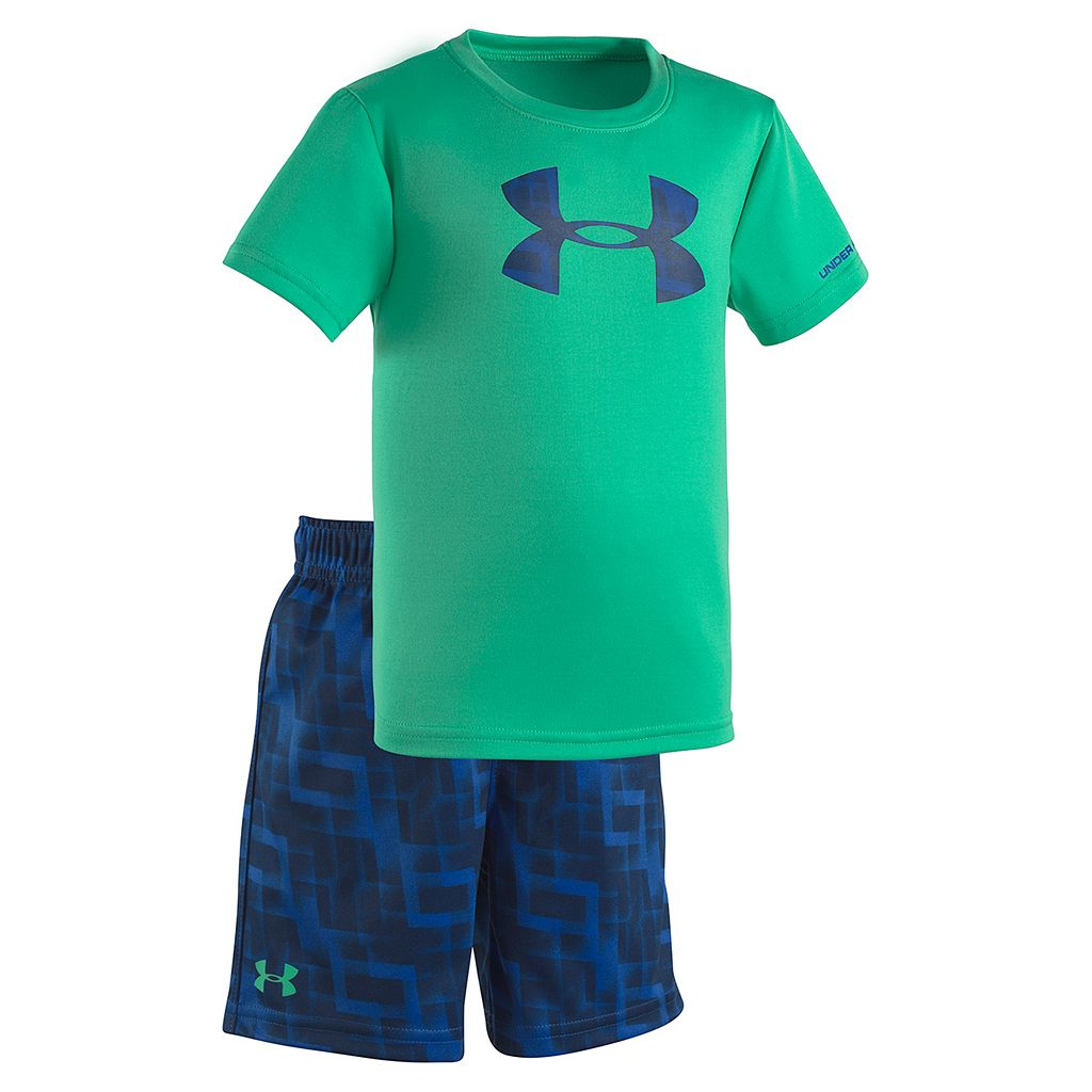 Toddler Boy Under Armour Jump Box Big Logo Tee & Shorts Set