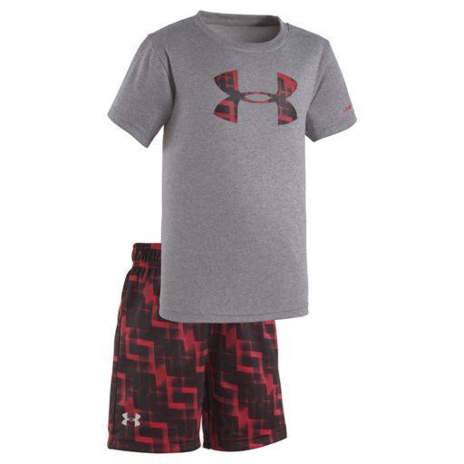 Baby Boy Under Armour Jump Box Big Logo Tee & Shorts Set