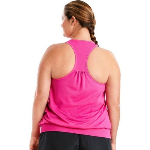 Plus Size Just My Size Mesh Banded Racerback Tank