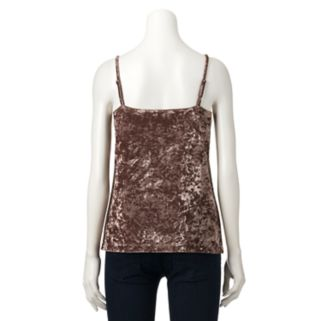 Women's Jennifer Lopez Crushed Velvet Cami