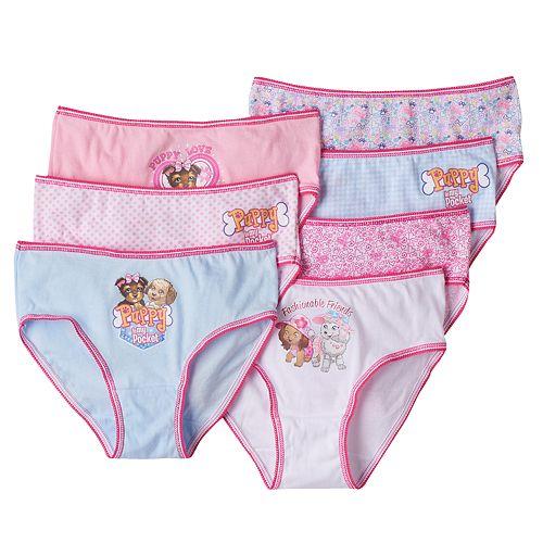 Girls 4-10 Puppy in My Pocket Tessa, Suzette & Sparky 7-pk. Brief Panties