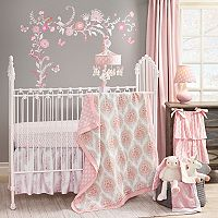 Happi by Dena 4 pc Charlotte Hearts Crib Bedding Set by Lambs & Ivy
