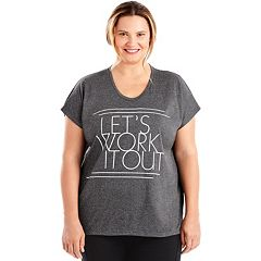 Plus Size Just My Size Graphic Dolman Tee