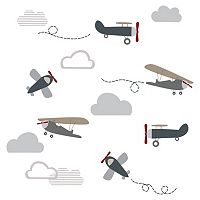 Lambs & Ivy Evan Airplanes & Clouds Wall Decal Set