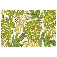 Kaleen Sea Isle Tropical Leaves Rug