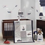 Lambs & Ivy 3 pc Evan Airplanes, Cars, Sailboats & Trucks Crib Bedding Set