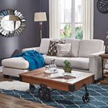 HomeVance Caldwell Sectional Loveseat with Left-Side Chaise 2-piece Set