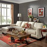 HomeVance Caldwell Sectional Sofa with Left-Side Chaise 2-piece Set