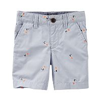 Boys 4-8 OshKosh B'gosh® Flat Front Embroidered Pattern Shorts