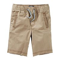 Boys 4-12 OshKosh B'gosh® Canvas Pull-On Jogger Shorts