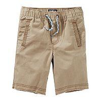Boys 4-12 OshKosh B'gosh® Canvas Pull-On Jogger Shorts