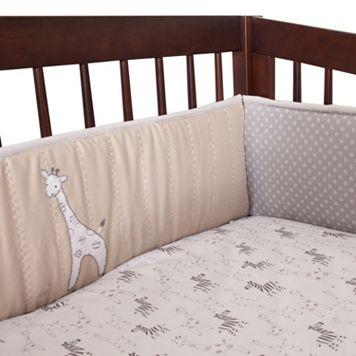 Lambs & Ivy 4-pc. Elias Giraffes & Zebras Crib Bumper