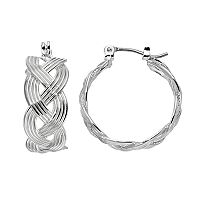 Dana Buchman Braided Nickel Free Hoop Earrings
