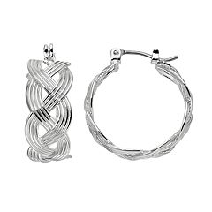 Dana Buchman Braided Hoop Earrings