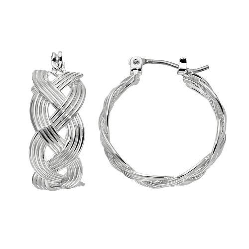Dana Buchman Braided Hoop Earrings