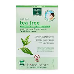 Earth Therapeutics 5 pkTea Tree Oil Face Masks