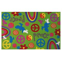 Fun Rugs Fun Time Peace & Harmony Rug - 3'3'' x 4'10''