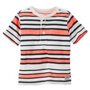 Boys 4-12 OshKosh B'gosh® Striped Henley Slubbed Tee