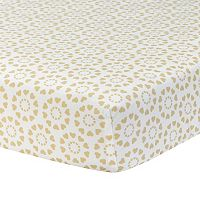 Lambs & Ivy Dawn Hearts Fitted Crib Sheet