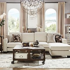 HomeVance Caldwell Sectional Sofa with Right-Side Chaise 2-piece Set