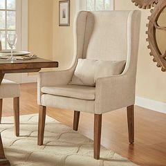 HomeVance Grace Hill Wingback Hostess Chair