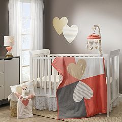 Lambs & Ivy 3-pc. Dawn Hearts Crib Bedding Set