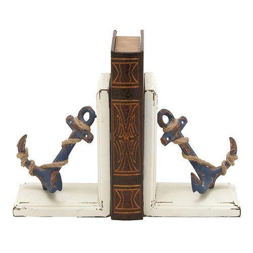 Nautical Anchor Bookends 2-piece Set