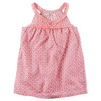 Toddler Girl Carter's Patterned Fringe Woven Top