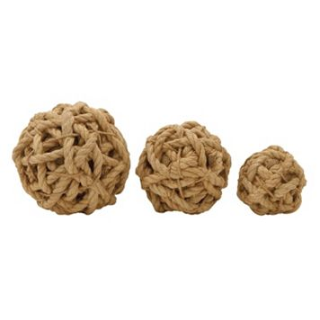 Jute Ball Vase Filler 3-piece Set