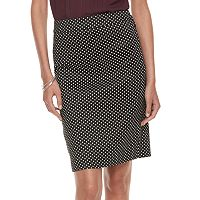 Women's ELLE™ Polka-Dot Pencil Skirt