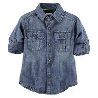 Baby Boy Carter's Roll-Tab Woven Denim Button-Down Shirt